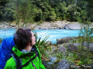 Rivière aux eaux bleus turquoises