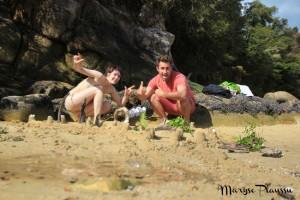 Châteaux de sable à Abel Tasman