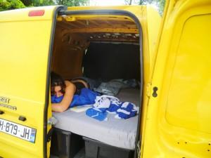 dormir en camion