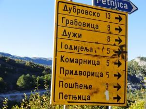 panneau en Serbie
