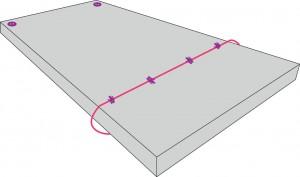 schéma pliage matelas